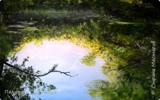 """Минули летние пленеры, а картины остались. Мне очень хотелось отразить именно момент пробуждения природы ранним утром. И """"Рассвет у реки"""" именно та работа на которой я пыталась показать всю свежесть раннего утра. фото 2"""