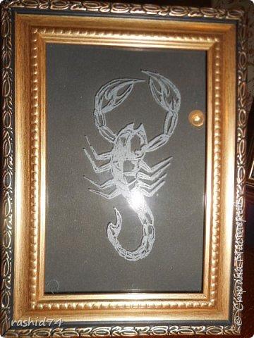 Моя первая гравировка - Скорпион