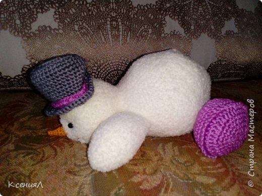 Снеговик крючком фото 2