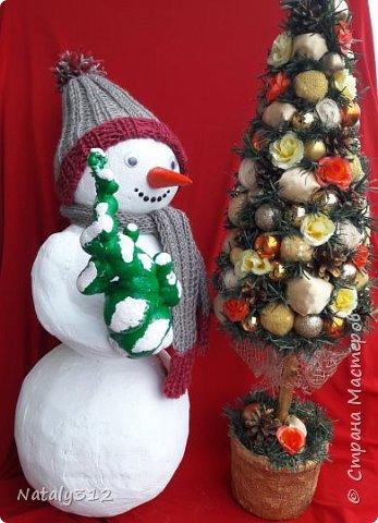 Внуку в детский сад надо было изготовить поделку. Я взялась сразу за двух снеговиков (вдруг какой-то не получится). фото 4
