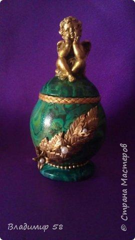 Шкатулка для драгоценностей или ваза для мелких цветов. фото 2