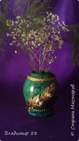 Шкатулка для драгоценностей или ваза для мелких цветов. фото 3