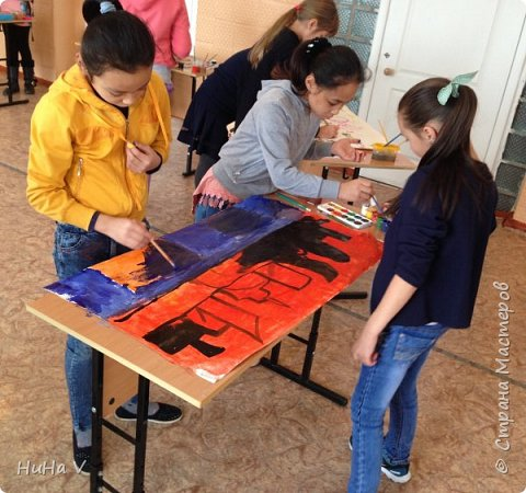 Коллективное рисование оказалось очень увлекательным творческим процессом! И дети и учителя получили массу положительных эмоций! фото 7