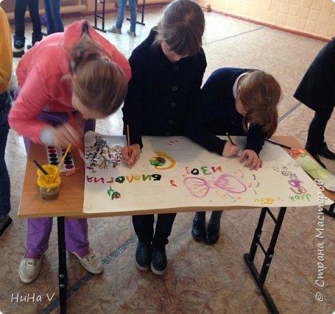 Коллективное рисование оказалось очень увлекательным творческим процессом! И дети и учителя получили массу положительных эмоций! фото 9
