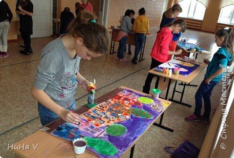 Коллективное рисование оказалось очень увлекательным творческим процессом! И дети и учителя получили массу положительных эмоций! фото 10
