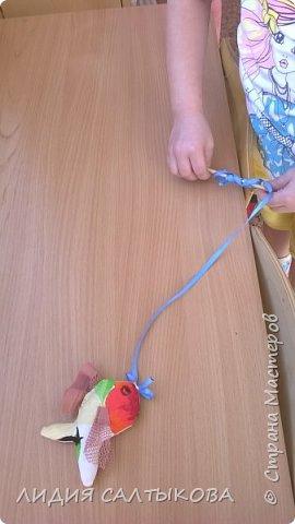 дидактическая игра «Веселые Насекомые» Материал: ткань, синтепон или поролон, цветная верёвка и палочка. Использование: для закручивания, игр – соревнований, как ориентир при ходьбе, беге или построениях, как сюрпризный и игровой момент. Цель: Развитие мелкой моторики рук, равновесия, развития речи, сенсорики, ориентировки, терпения и воли.  фото 6