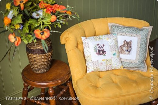 Подушки декоративные с вышивкой