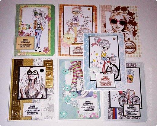 Обложки на паспорт ручной работы .. Сначала покажу из кожзама. фото 18
