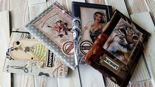 Обложки на паспорт ручной работы .. Сначала покажу из кожзама. фото 9