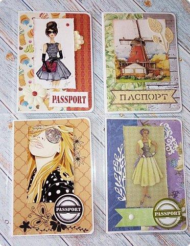 Обложки на паспорт ручной работы .. Сначала покажу из кожзама. фото 14