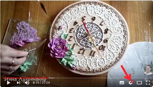 Декорирование основы часов декоративно скульптурной живописью. фото 2