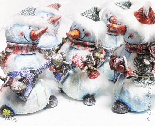 веселая компания снеговиков-вместе веселее! фото 1