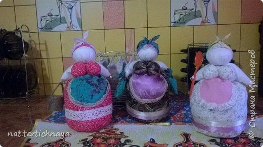 Вот такие хозяюшки на кухне появились у меня по описанию Олели, ссылка на страничку -      http://stranamasterov.ru/node/382529 фото 2