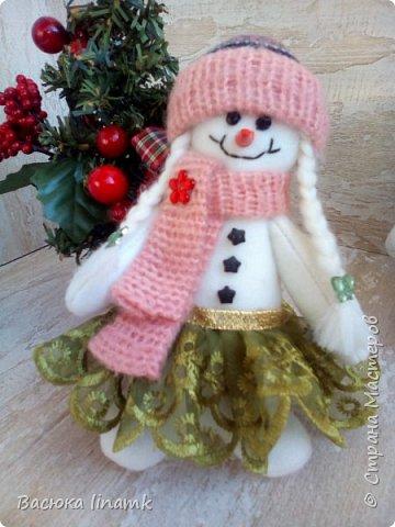 Здравствуйте дорогие соседи. Сегодня я к Вам со своими снеговиками и гномом по другой выкройке фото 5