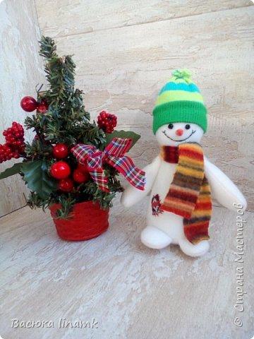 Здравствуйте дорогие соседи. Сегодня я к Вам со своими снеговиками и гномом по другой выкройке фото 4