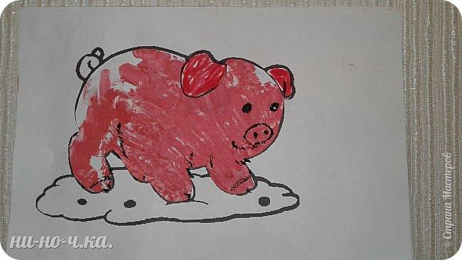 Здравствуйте, мастерицы!!! Сегодня я хочу с вами поделиться своими занятиями с малышами от года. Так как моя малышка еще не умеет рисовать, мы с ней ладошками нахлопаем, а потом я придумываю картины, или наоборот, сначала придумаю кого будем изображать, а потом тяпаем))) фото 6