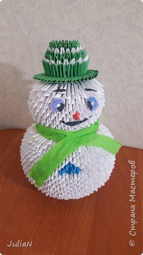 Снеговик сделан по МК http://stranamasterov.ru/node/991906