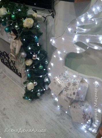 как и обещала выкладываю фото камина уже с новогодним декором! как выполнялся камин есть в моих работах фото 2