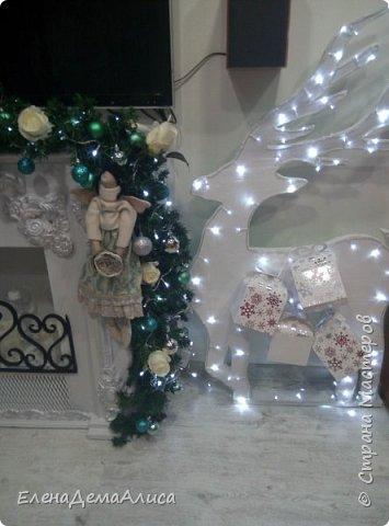 как и обещала выкладываю фото камина уже с новогодним декором! как выполнялся камин есть в моих работах фото 5