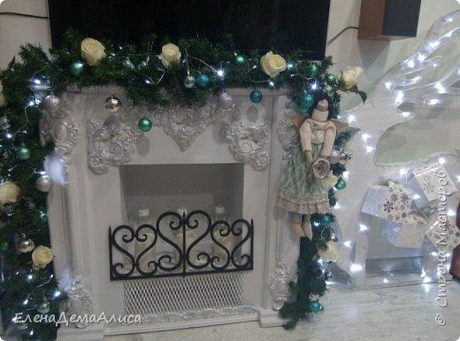 как и обещала выкладываю фото камина уже с новогодним декором! как выполнялся камин есть в моих работах фото 3