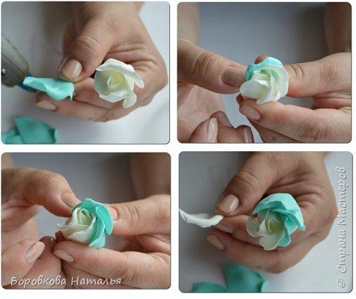 Создаем двухцветную розу «Инь-Янь» из фоамирана фото 16
