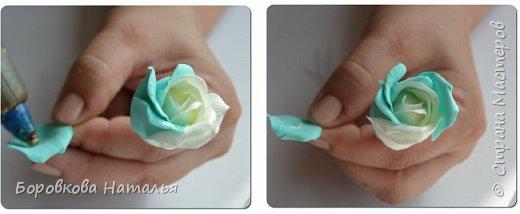 Создаем двухцветную розу «Инь-Янь» из фоамирана фото 18