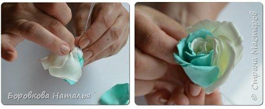 Создаем двухцветную розу «Инь-Янь» из фоамирана фото 20