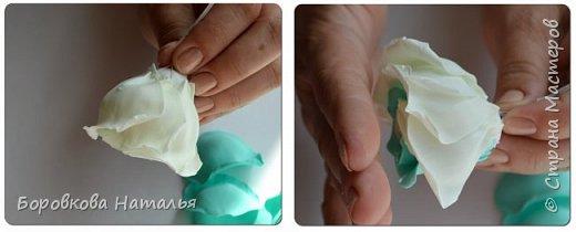 Создаем двухцветную розу «Инь-Янь» из фоамирана фото 21