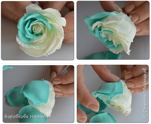 Создаем двухцветную розу «Инь-Янь» из фоамирана фото 22