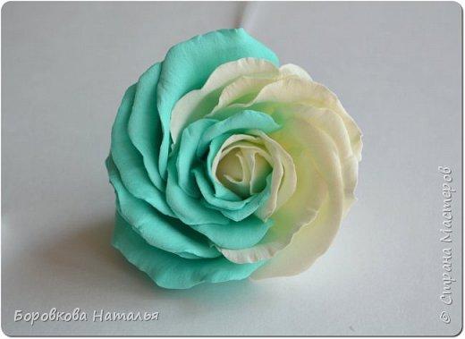 Создаем двухцветную розу «Инь-Янь» из фоамирана фото 25