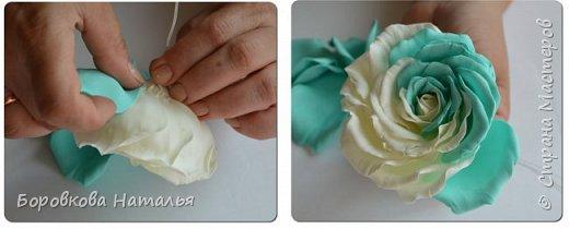 Создаем двухцветную розу «Инь-Янь» из фоамирана фото 28