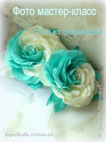 Создаем двухцветную розу «Инь-Янь» из фоамирана фото 1
