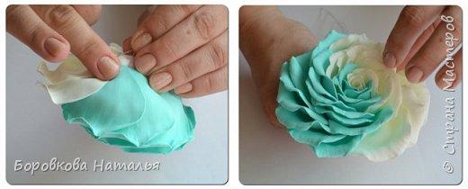 Создаем двухцветную розу «Инь-Янь» из фоамирана фото 31