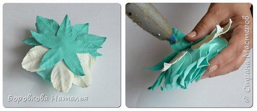 Создаем двухцветную розу «Инь-Янь» из фоамирана фото 37