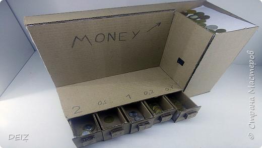 Сортировщик монет из картона