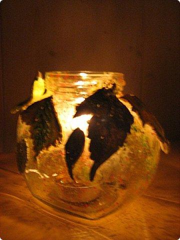 Доброго времени суток, жители Странны Мастеров! Для тех кто любит осень! Хочу показать, как мы с детьми делали светильники. Источником света является свеча. фото 1