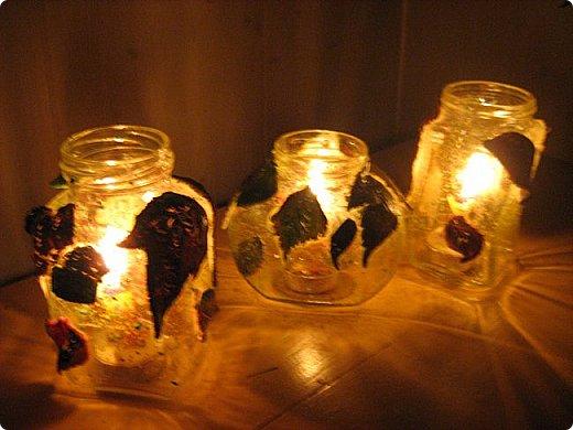 Доброго времени суток, жители Странны Мастеров! Для тех кто любит осень! Хочу показать, как мы с детьми делали светильники. Источником света является свеча. фото 9