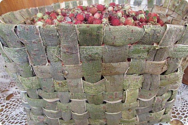 Добрый день! Встречаю вас душистой лесной клубникой в плетёном коробе из ивового  лыка:) фото 11