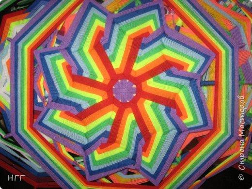 Мандала Солнцеворот из акриловой пряжи. фото 1