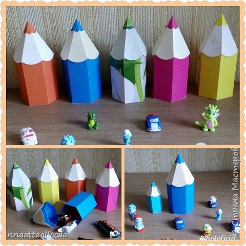 Вот такие бонбоньерки-карандаши сделала на день рождения сыночка фото 1