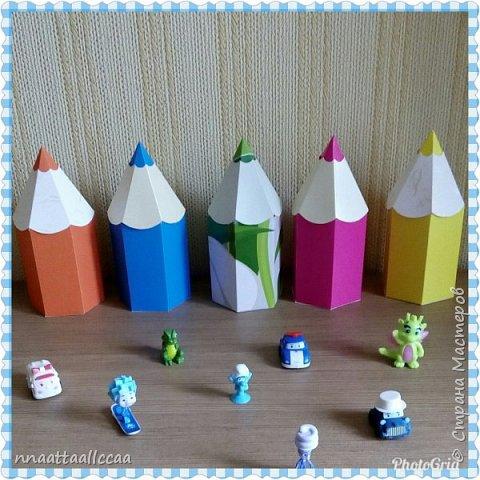 Вот такие бонбоньерки-карандаши сделала на день рождения сыночка фото 2