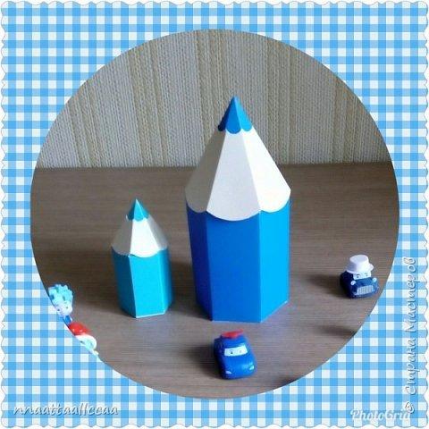 Вот такие бонбоньерки-карандаши сделала на день рождения сыночка фото 4