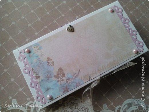 Свадебный конверт.Полоски 2 мм. фото 2