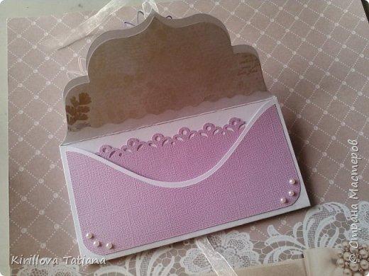 Свадебный конверт.Полоски 2 мм. фото 3