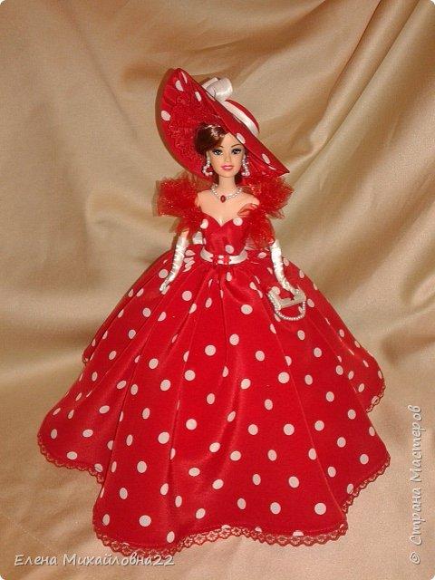 Дама в красном....(кукла-шкатулка) фото 2