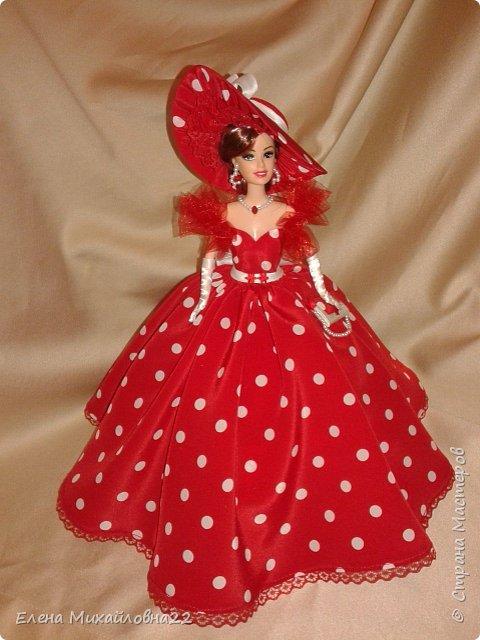Дама в красном....(кукла-шкатулка) фото 3
