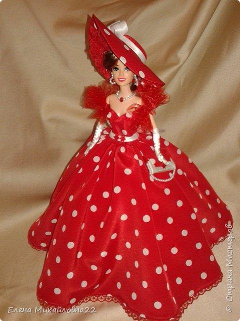 Дама в красном....(кукла-шкатулка) фото 4