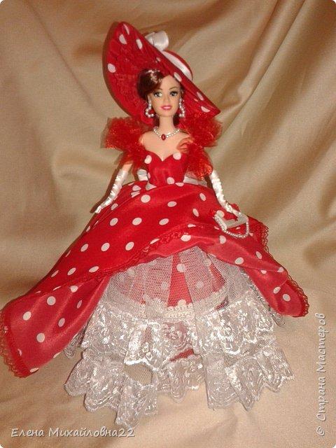 Дама в красном....(кукла-шкатулка) фото 8