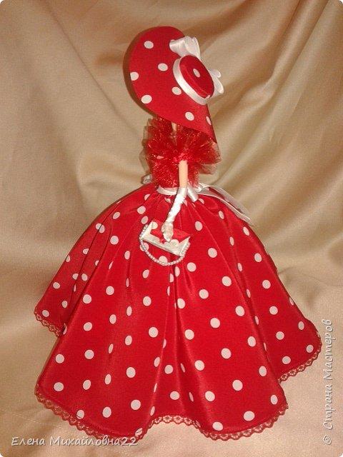 Дама в красном....(кукла-шкатулка) фото 5
