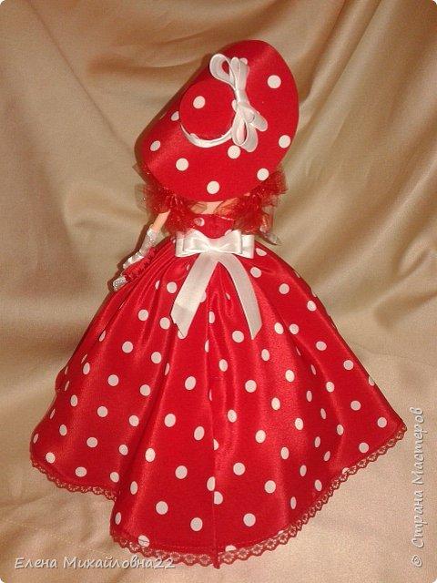 Дама в красном....(кукла-шкатулка) фото 6